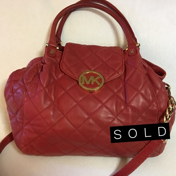 Michael Kors Handbags - SOLD! MICHAEL KORS Large  Quilted Leather FULTON